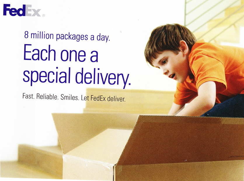 FedEx Ships over 8 million packages a day.
